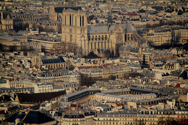 View Notre Dame Cathedral From Montparnasse Tower 1