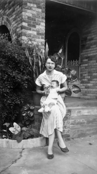 Maria Jacob Smock with Janice November 1951 1102 Omar Houston, Texas
