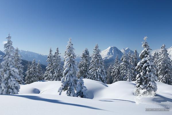 Karwendel and Stubaier Alps in Winter