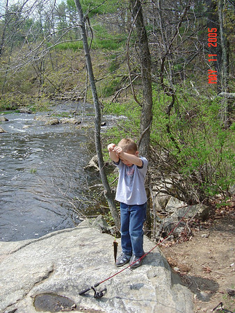 Ty's First Fishing Trip (with Darlene) 5-11-05