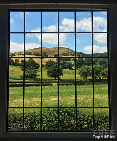 A Room With A View: A Window Overlooking The Carding Mill Valley and the Long Mynd in Little Stretton, Shropshire