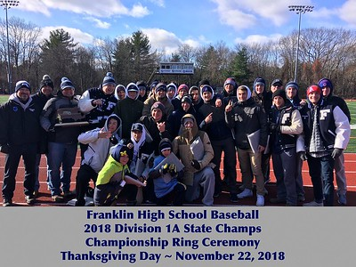 State Championship Ring Ceremony - Thanksgiving Day November 22, 2018