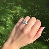 1.73ctw Blue Marquise Cut Diamond Trilogy Ring 11