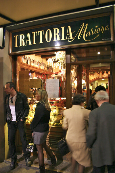 Trattoria Marione (amazing dinner!)- Florence