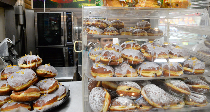 02/28/19  Wesley Bunnell | Staff  A display case filled with paczki inside of Polmart at 123 Broad St on Fat Thursday.