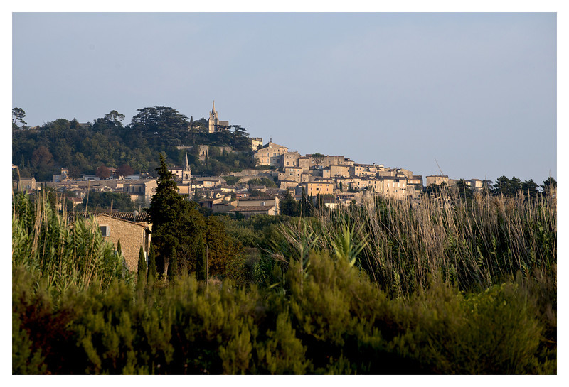View of Bonnieux from the pool.