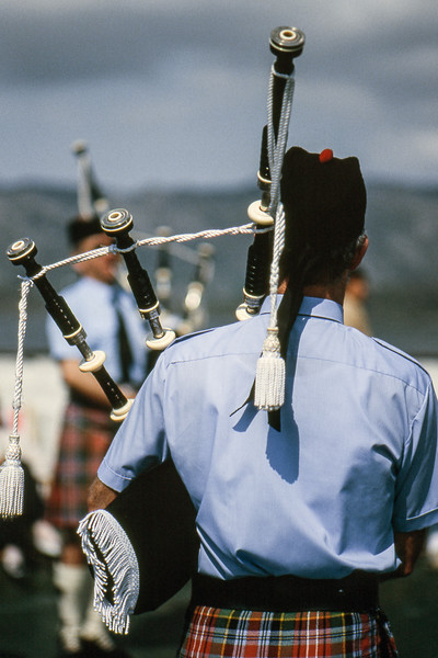 Bagpipers - Lerwick, Shetland Islands, Scotland, UK - June 4, 1989