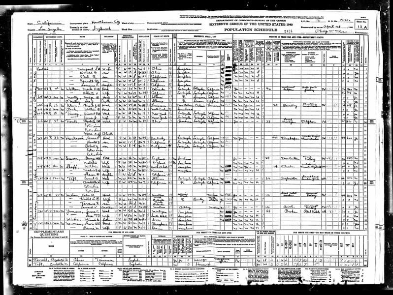1940 census Mable Sutherland Graver LA CA.jpg