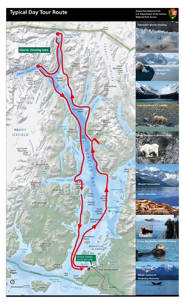 Glacier Bay National Park and Preserve (Day Tour Route)