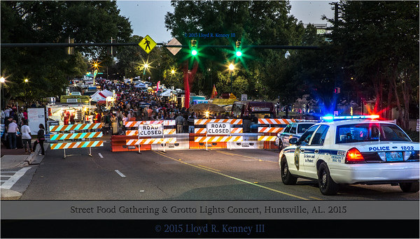 The Final 2015 Street Food Gathering and Grotto Lights Concert - Huntsville, AL.