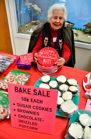 2/8/2020 Mike Orazzi | Staff Ruth Day while selling baked items at the New Britain Youth Museum during a Valentine's Day Party on Saturday.