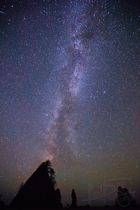 Milky Way at Point of Arches, Shi Shi Beach, Olympic National Park, WA.