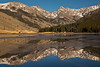 Mt. Powell and Peak C reflected in Piney Lake, CO