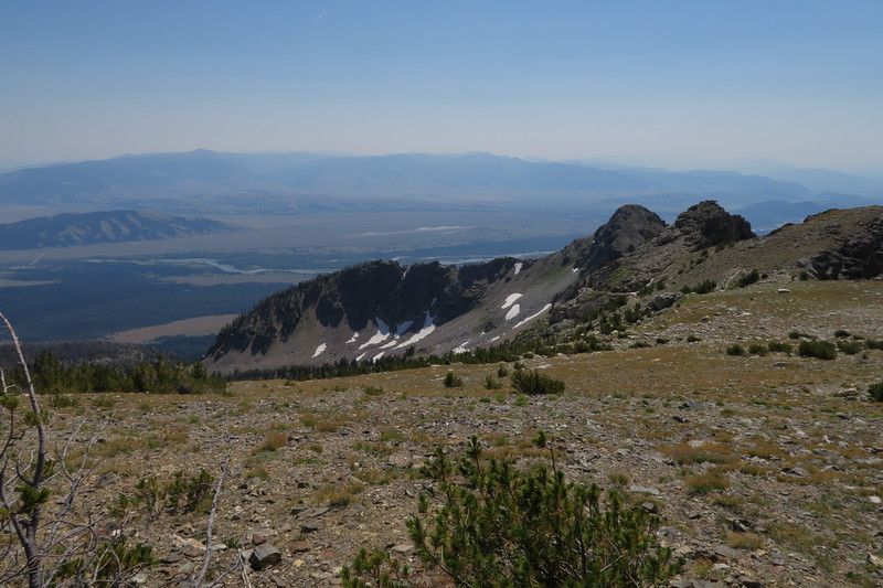 Jackson Hole as seen from Static Peak Divide