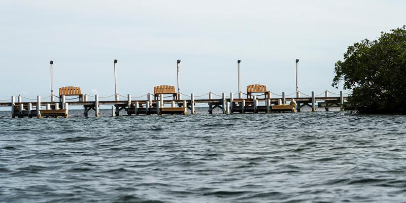 Dock in the Caribbean Sea, Turneffe Island, Belize