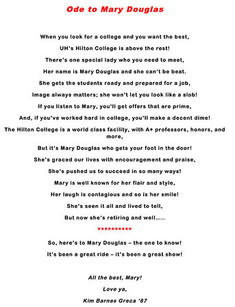 Ode to Mary Douglas