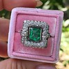 1.60ctw Emerald and Diamond Cocktail Ring 5