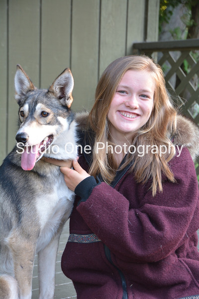 Talia and her sled dog