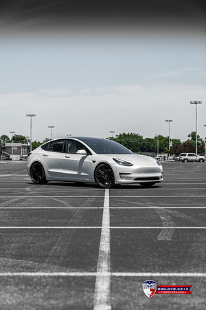 Tesla Model 3 Performance on Vossen CV10