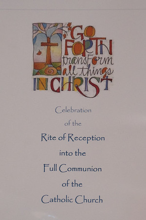 Rite of Reception into Full Communion 2018 Feb 11
