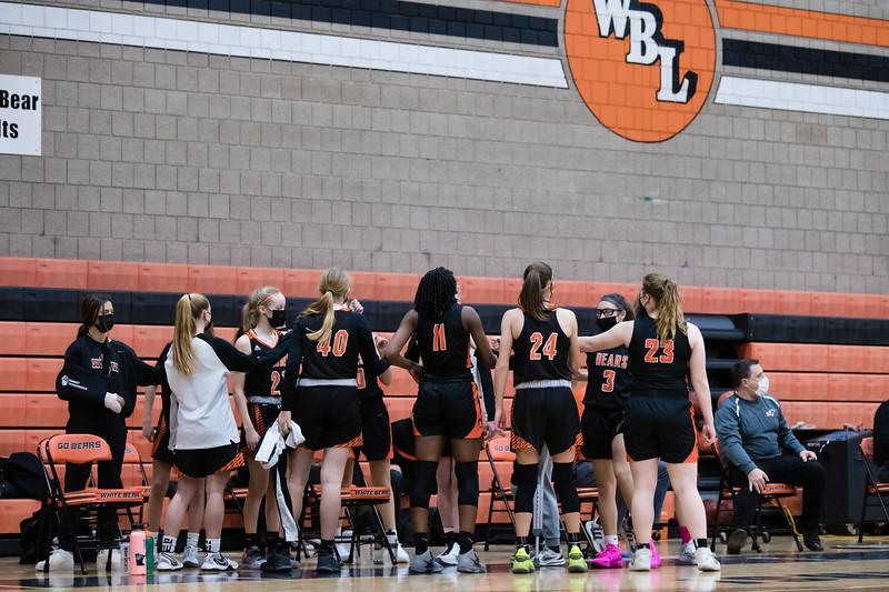 WBL Girls JV Basketball -V- Mounds View 2021