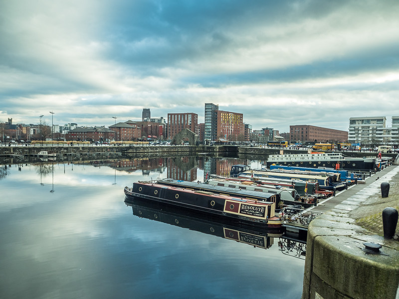 Longboats at the Docks, Liverpool, England