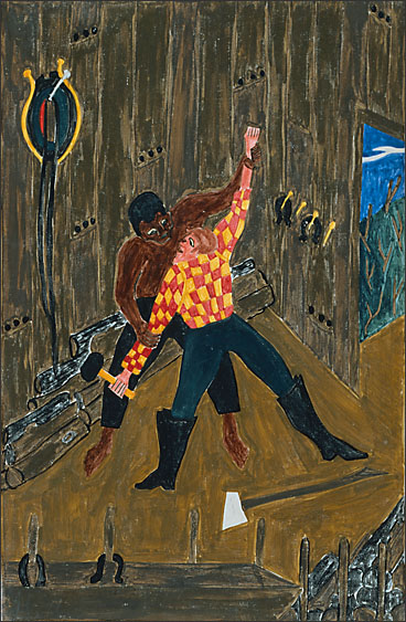 "Jacob Lawrence, ""The Life of Frederick Douglass No. 10,"" 1939"