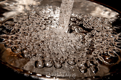 Water in a bowl!