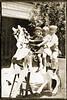 1900 Children on carousel horse circa 1900 daguerreotype