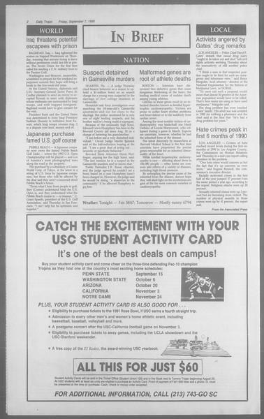 Daily Trojan, Vol. 113, No. 4, September 07, 1990