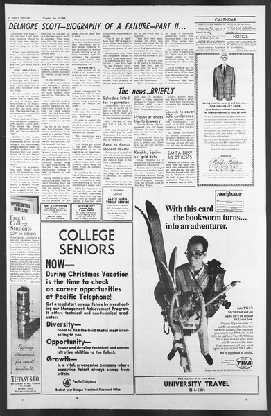 Daily Trojan, Vol. 58, No. 57, December 13, 1966