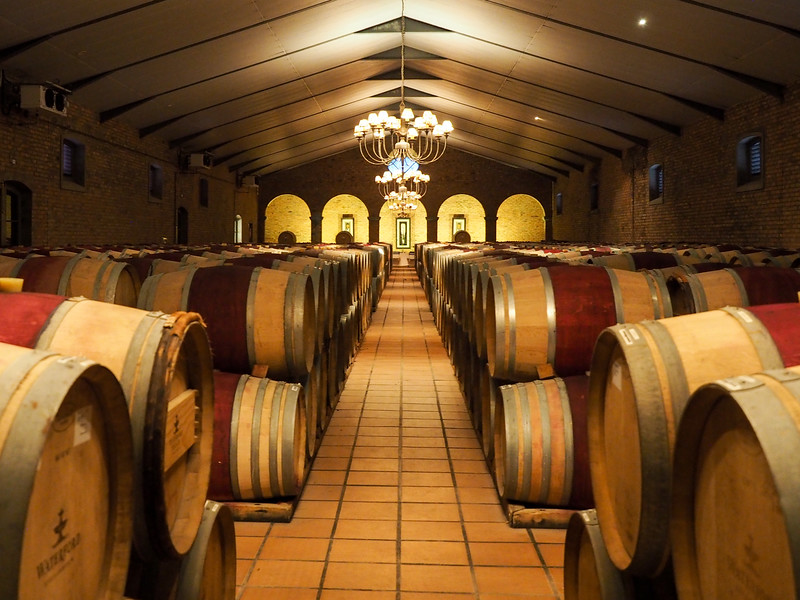 Waterford Estate wine cellar