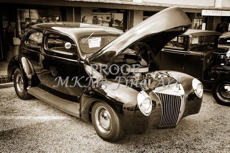 1939 Ford Coupe Sedan Classic Antique Car in Sepia 3411.01