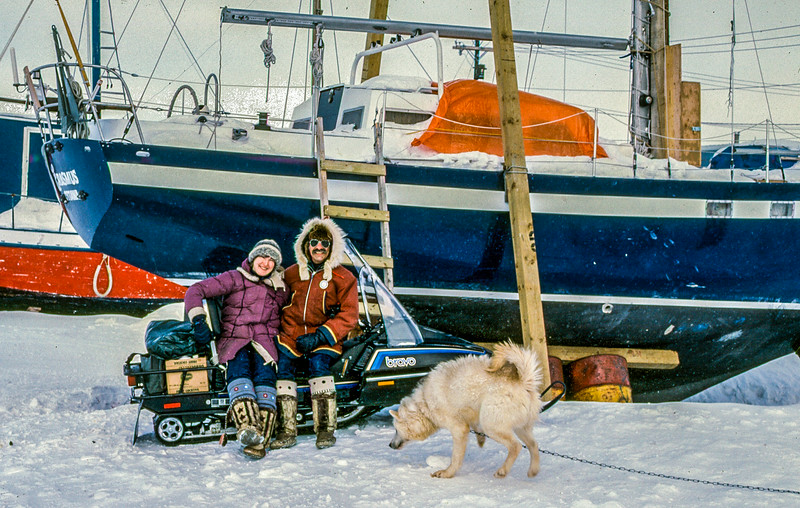 Helga and David in Cape Dorset