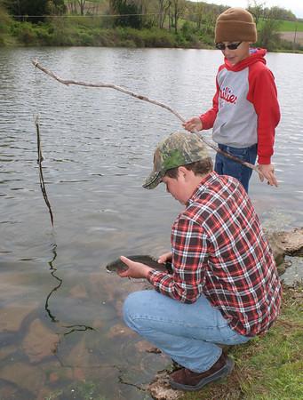 Kids Fishing, Rosemount Fishing Rodeo, Lewistown Valley (4-28-2012)