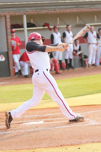 #26 Jake Watts bats against Charleston Southern.