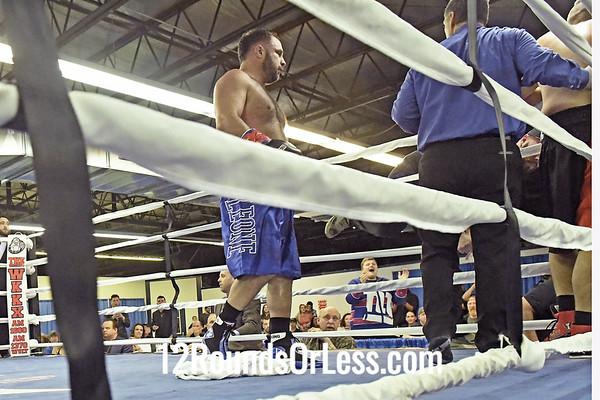 Bout 10, Main Event Pro Boxing Mike Manna, Red Wrist Wrape vs Joe Hill, Blue Wrist Wraps