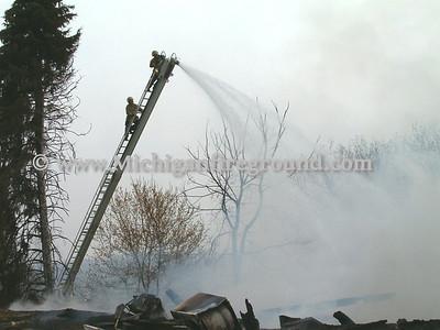 4/17/04 - Mason barn fire, 5351 Bunker Rd