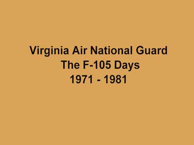 VA-ANG F-105 Days Video