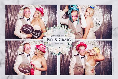 Fay + Craig wedding photoboorh at Lemore Manor