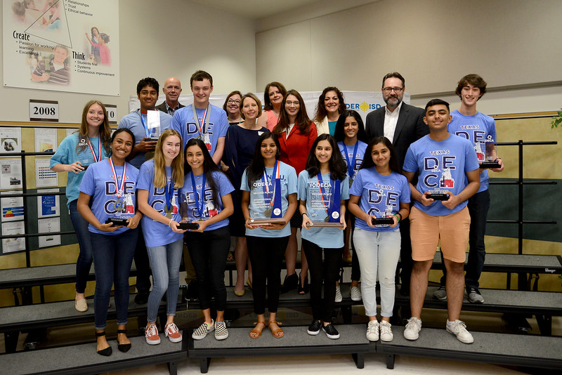 Students from Vandegrift High School are recognized for their accomplishment at DECA's International Career Development Conference. VHS had 19 qualifying teams. ICDC winners included a 2nd place finish from Akansha Chawla and  Lekha Sripathi in Buying and Merchandising. Mimi Nickerson and Eesha Patel were medal finalists in Innovated Plan. Dylan Mckenzie and Vishal Sagi medaled for top role play in their events.