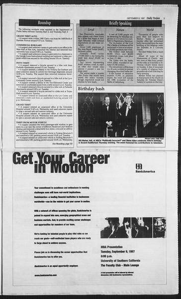 Daily Trojan, Vol. 132, No. 7, September 08, 1997