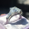 3.43ctw Emerald Cut Diamond 5-Stone Ring by Leon Mege, GIA F SI1 6