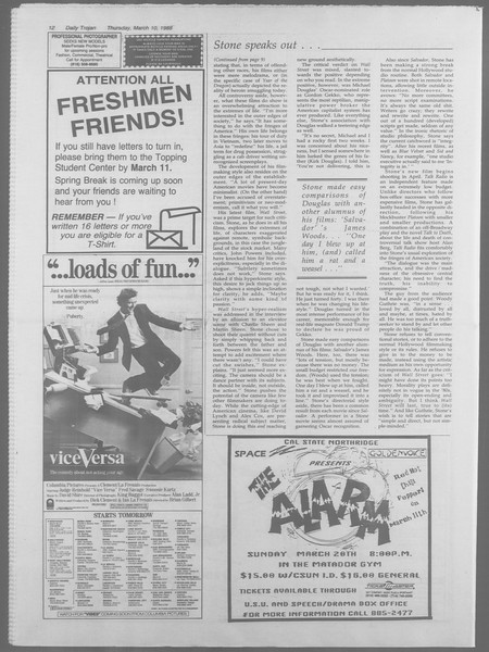 Daily Trojan, Vol. 106, No. 41, March 10, 1988