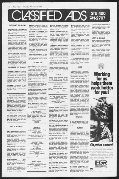 Daily Trojan, Vol. 87, No. 38, November 08, 1979