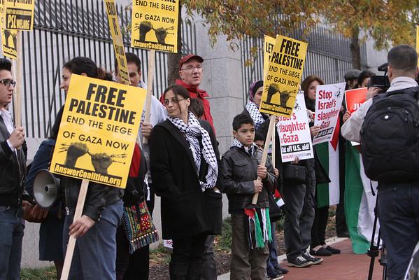 Protest At The Israeli Embassy Washington D.C. Nov. 18,2012