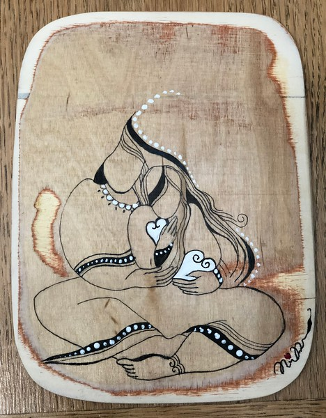 Wood art by Nira Dahan/ 'Share the Love'