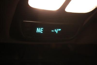 Car Thermostat Readout, McAdoo, Hometown, Tamaqua (1-24-2011)