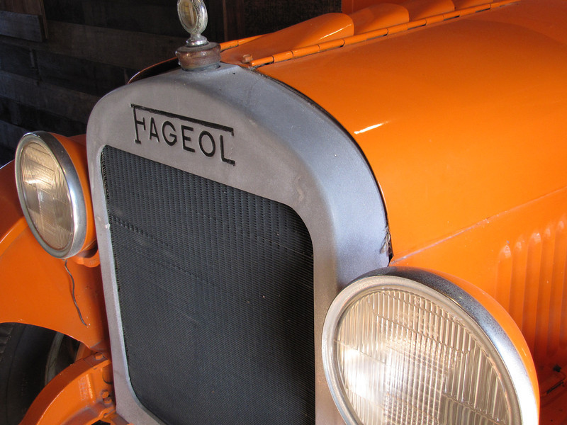 gulf oil truck; operating instructions inside the side door suggest grease and oil to be much cheaper than parts
