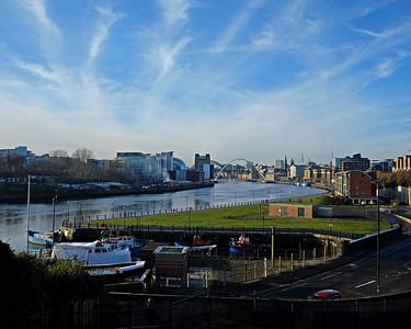 Winter walk along the Tyne